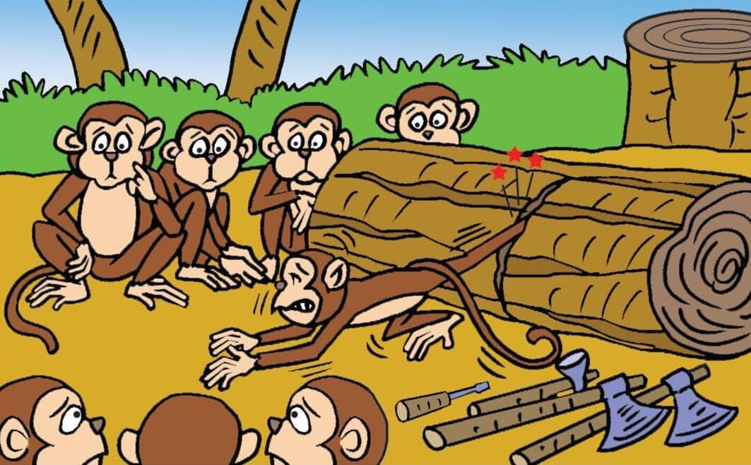 कीलोत्पाटि-वानरकथा | The Wedge Removing Monkey